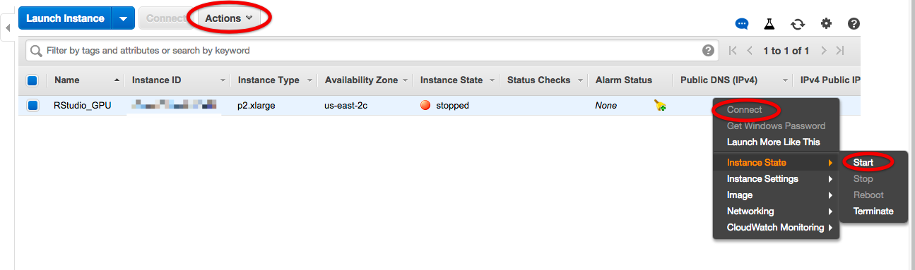 Setting up an AWS EC2 instance with RStudio Server and